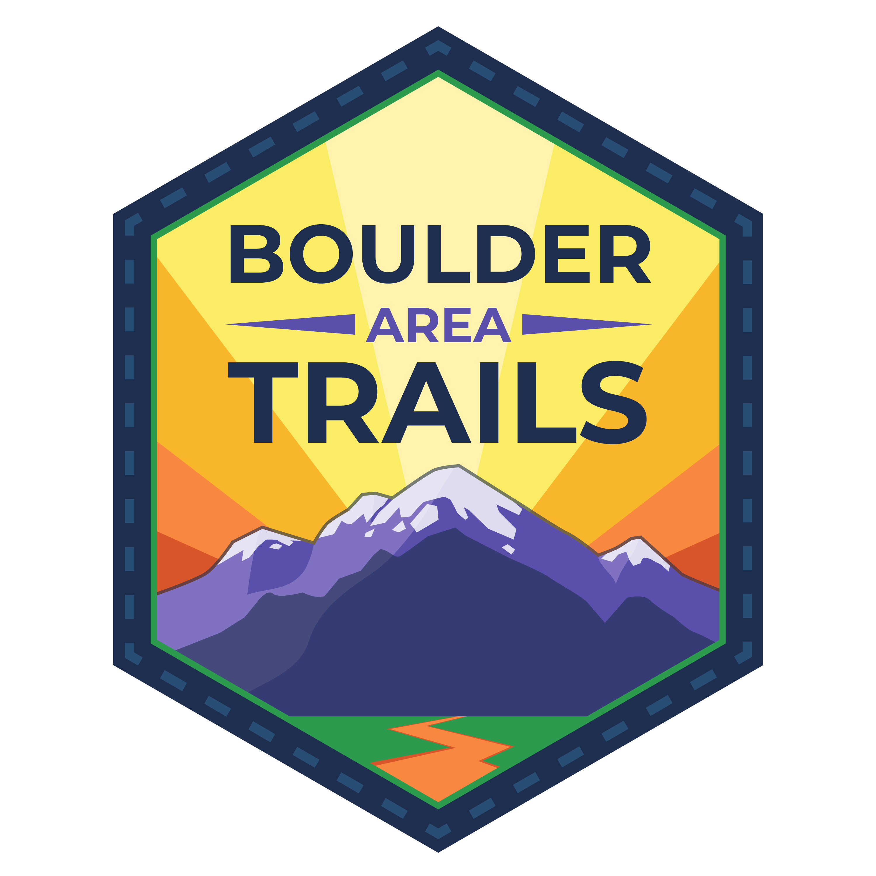 Boulder Area Trails App Logo